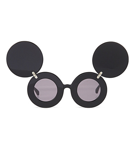 JEREMY SCOTT Round Mickey Mouse sunglasses (Black