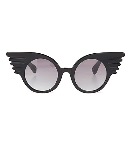 JEREMY SCOTT Winged corner sunglasses (Black