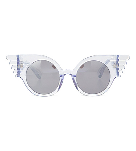JEREMY SCOTT Winged corner sunglasses (Clear