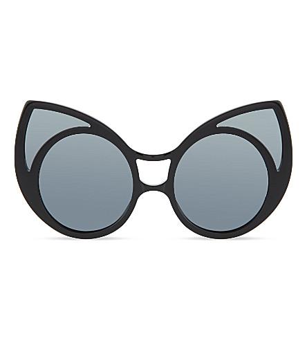 KHALEDA RAJAB+FAHAD ALMARZOUQ Black cateye sunglasses (Black