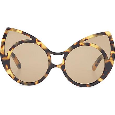 KHALEDA RAJAB+FAHAD ALMARZOUQ Tortoiseshell cat-eye sunglass (Tortoiseshell