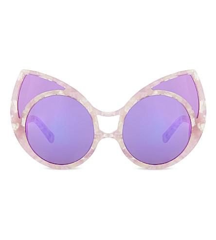 KHALEDA RAJAB+FAHAD ALMARZOUQ KR1C6 pointy cat-eye sunglasses (Lilac+tortoise+shell