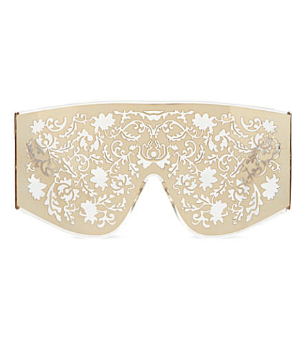KTZ Gold metal lace sunglasses (Gold
