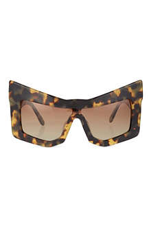 KTZ Tortoiseshell chunky cat-eye sunglasses