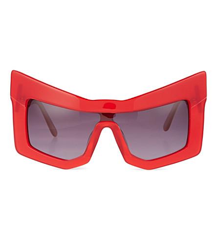 KTZ Chunky cat-eye sunglasses (Red