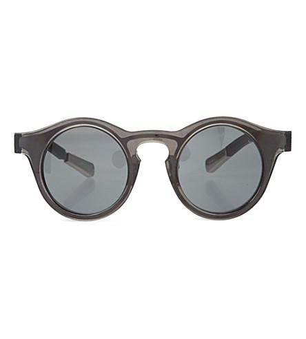 KRISVANASSCHE Transparent sunglasses (Black & burnt metal