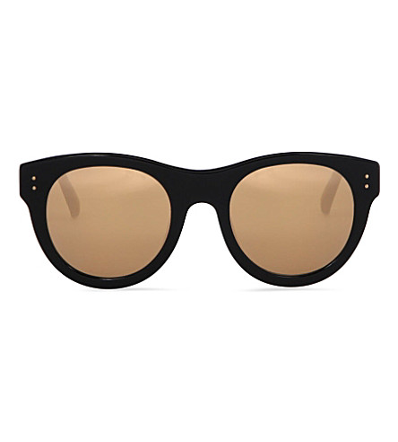 LINDA FARROW Gold-tinted sunglasses (Clear+&+gold