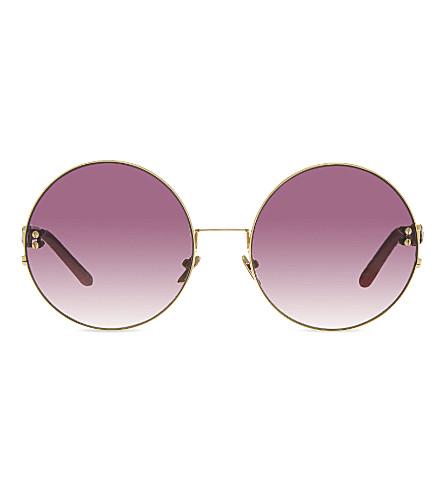 LINDA FARROW LFL122C5 oversized round sunglasses (Pink acetate