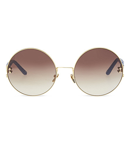 LINDA FARROW LFL122C7 oversized round sunglasses (Blue