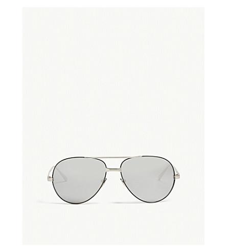 LINDA FARROW Lfl128 aviator sunglasses (White+gold