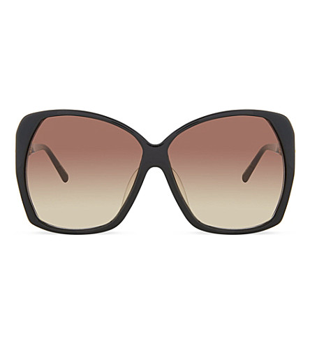 LINDA FARROW Lfl1371 oversized sunglasses (Black