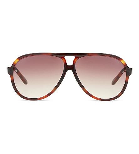 LINDA FARROW LFL149 thick rimmed aviator sunglasses (Tortoise+&+gold
