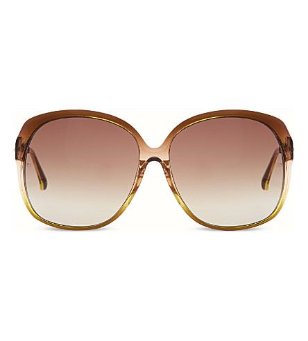LINDA FARROW LFL1587 Oversized  sunglasses (Tortoiseshell