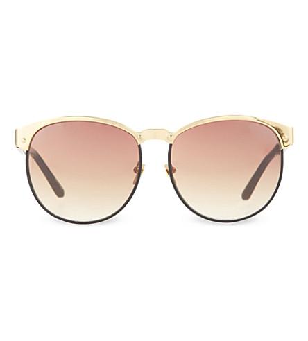 LINDA FARROW LFL169 gold black windsor rim sunglasses (Yellow gold & black