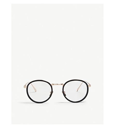 LINDA FARROW LFL182 oval-frame glasses (Black