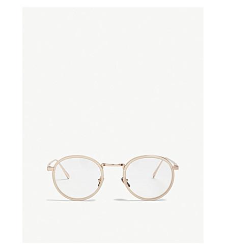LINDA FARROW Lfl182 oval-frame sunglasses (Milky+peach