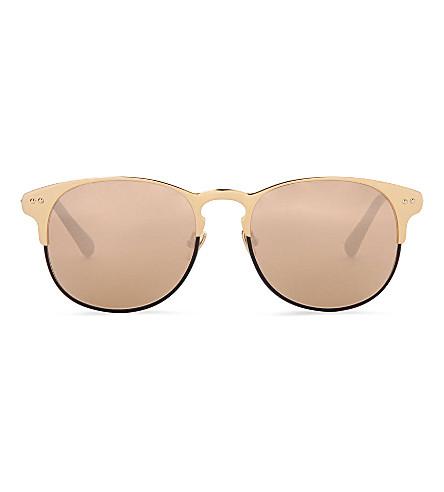 LINDA FARROW 22 carat gold sunglasses (Black / gold
