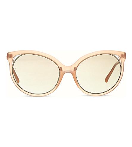 LINDA FARROW LFL205 Slim cat eye sunglasses (Silver