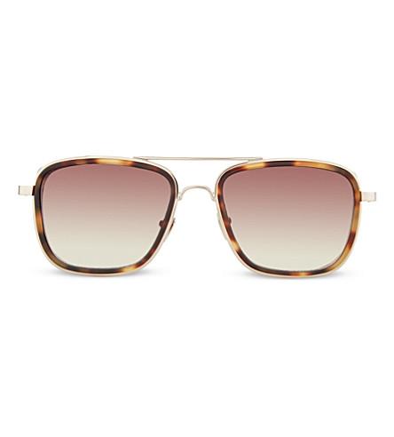 LINDA FARROW LFL237 tortoiseshell sunglasses (Gold & t-shell