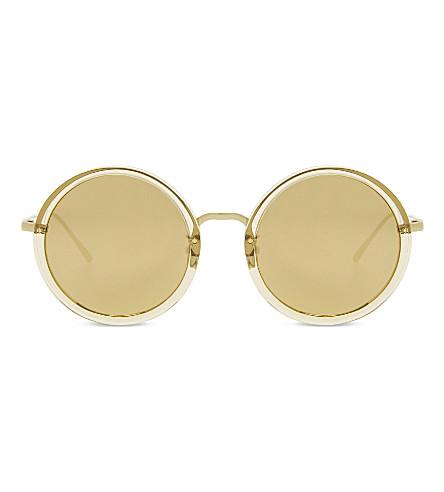 LINDA FARROW 239C45 unisex round sunglasses (Dew