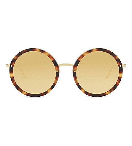 LINDA FARROW Lfl239 round-frame sunglasses (Gold