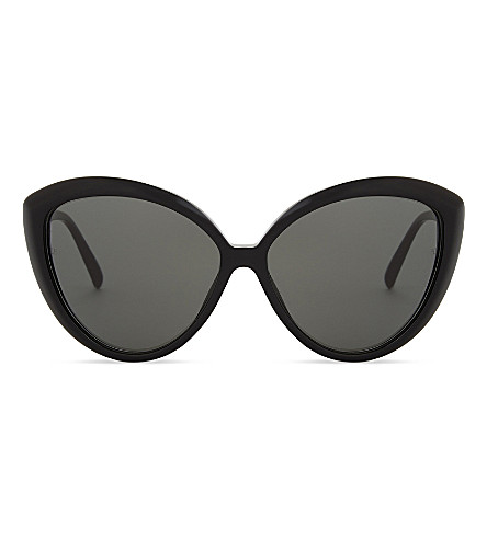 LINDA FARROW Oversized cat-eye sunglasses (Black