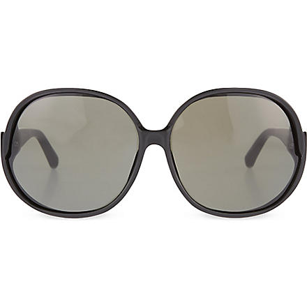 LINDA FARROW Oversized sunglasses (Black