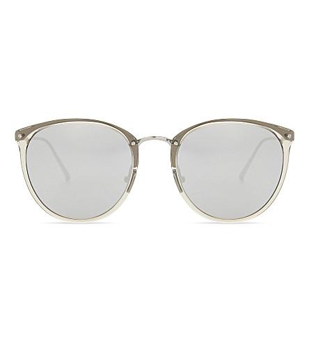 LINDA FARROW Lfl251 oval-frame sunglasses (Truffle