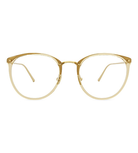 LINDA FARROW Lfl251 round-frame glasses (Dew
