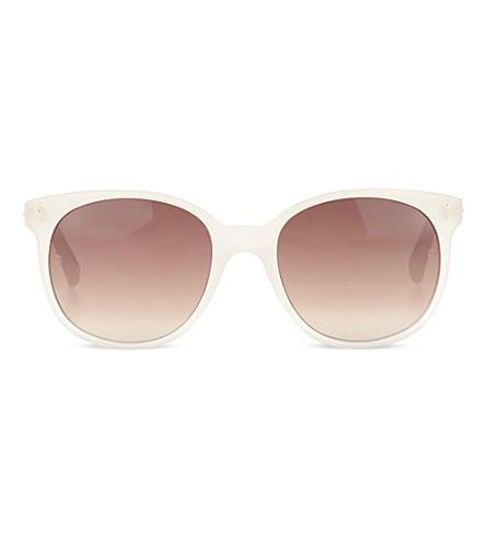 LINDA FARROW Nude acetate sunglasses (Nude