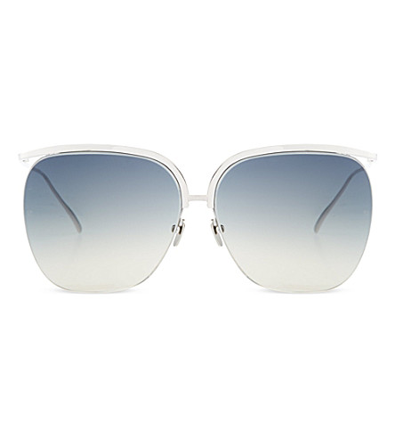 LINDA FARROW White gold sunglasses (White