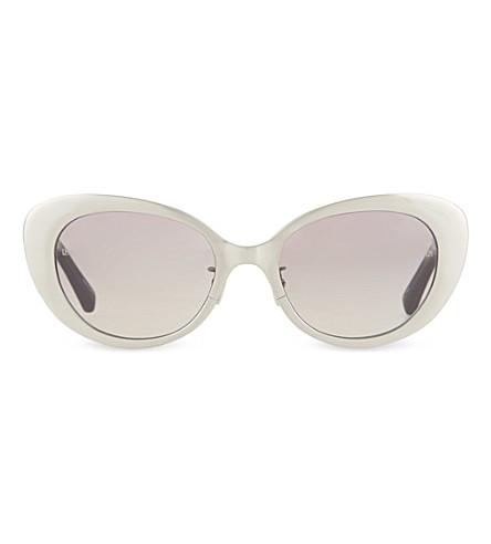 LINDA FARROW LFL282 brushed white gold sunglasses (Brushed white gold