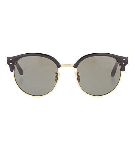 LINDA FARROW Half-frame sunglasses (Black