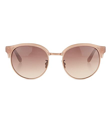 LINDA FARROW Half-frame sunglasses (Mink