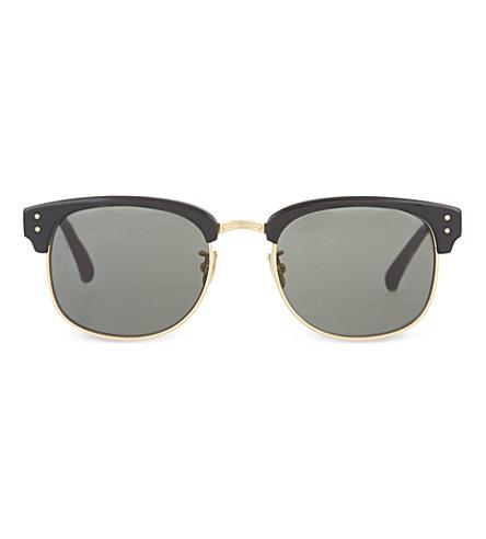 LINDA FARROW LFL293 black acetate sunglasses (Black / gold