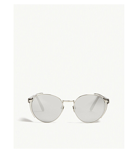 LINDA FARROW Lfl300 round-frame sunglasses (White+gold