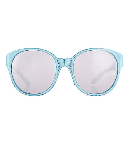 LINDA FARROW LFL3128 super chunky cat-eye sunglasses (Blue lavender