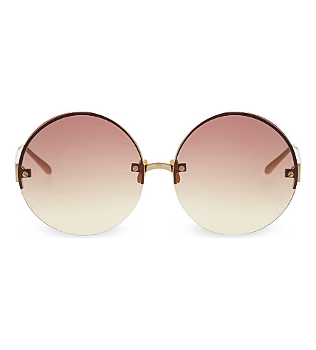 LINDA FARROW LFL313 round framed sunglasses (Gold