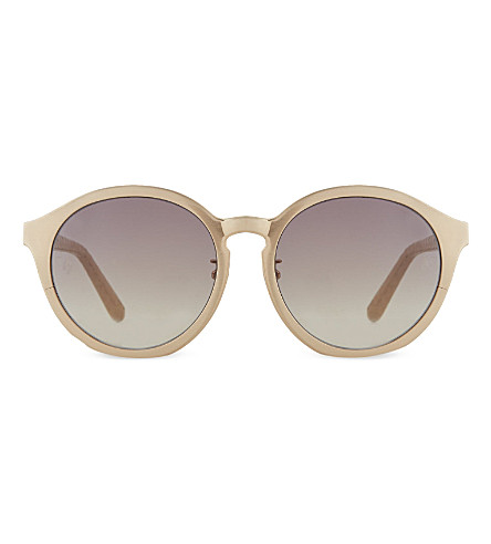 LINDA FARROW Lfl3387 oversized round sunglasses (Rose+gold+ash