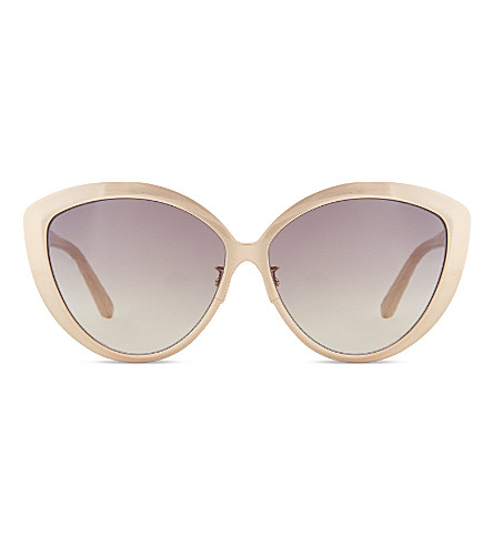 LINDA FARROW LFL3407 exaggerated cat-eye sunglasses (Rose+gold+ash