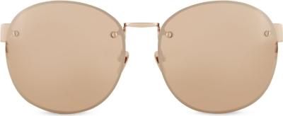 Frameless Circle Glasses : LINDA FARROW - LFL3413 Frameless round sunglasses ...