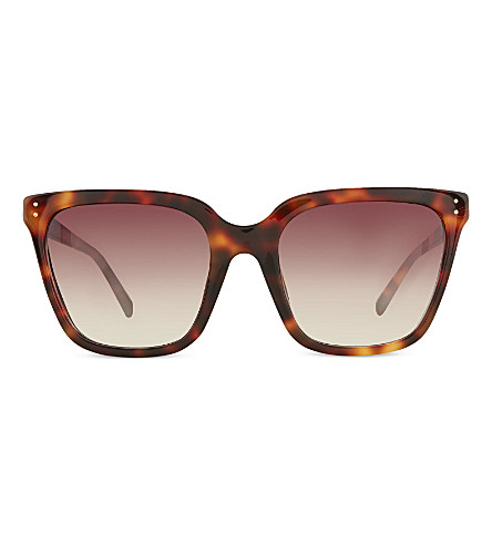 LINDA FARROW LFL34710 slim d-frame sunglasses (Tortoise+shell