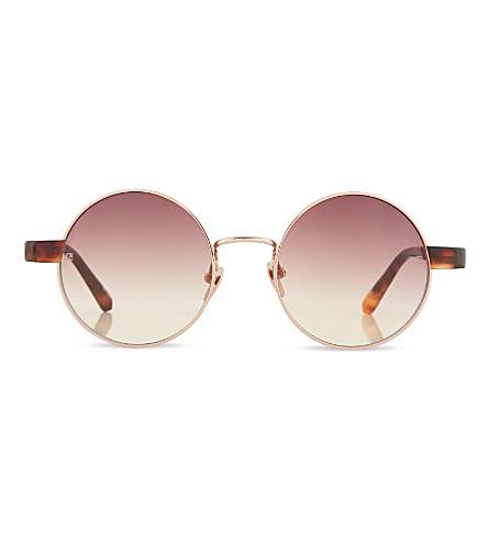 LINDA FARROW Tortoise shell round sunglasses (Tortoise+shell