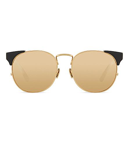LINDA FARROW Lfl3702 brow line sunglasses (Black gold lens