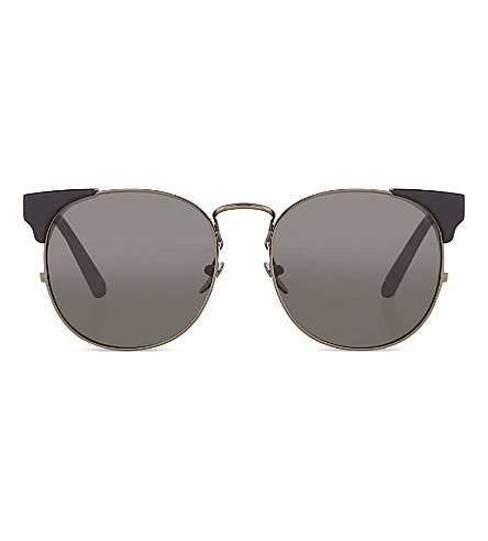 LINDA FARROW LFL3705 innovative brow-line sunglasses (Black nickel