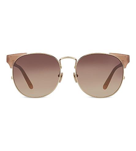 LINDA FARROW Lfl3709 brow line sunglasses (Mink