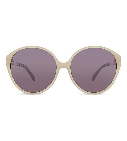 LINDA FARROW Lfl 3728 rounded sunglasses (Matt shell lavender