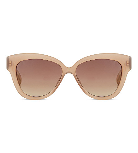 LINDA FARROW LFL3795 curved cat-eye sunglasses (Mink gold