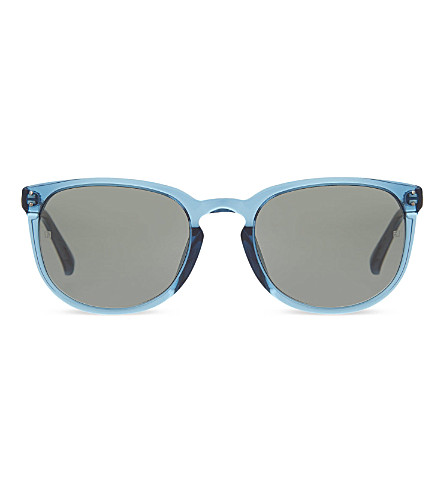 LINDA FARROW LFL381 rectangular keyhole sunglasses (Navy