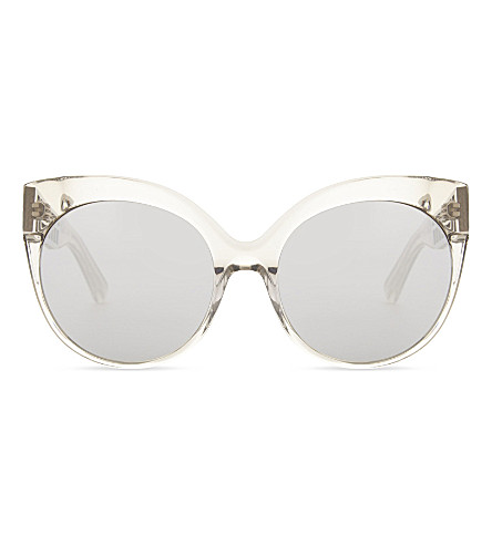 LINDA FARROW Cat eye sunglasses in truffle (Truffle